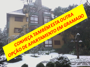 Apartamento Gramado rua coberta