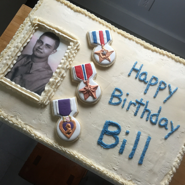 I Was So Pleased When My Good Friend Bill Asked Me To Make His Dads 90th Birthday Cake Dad Haug Is A World War II Hero Who Received Three