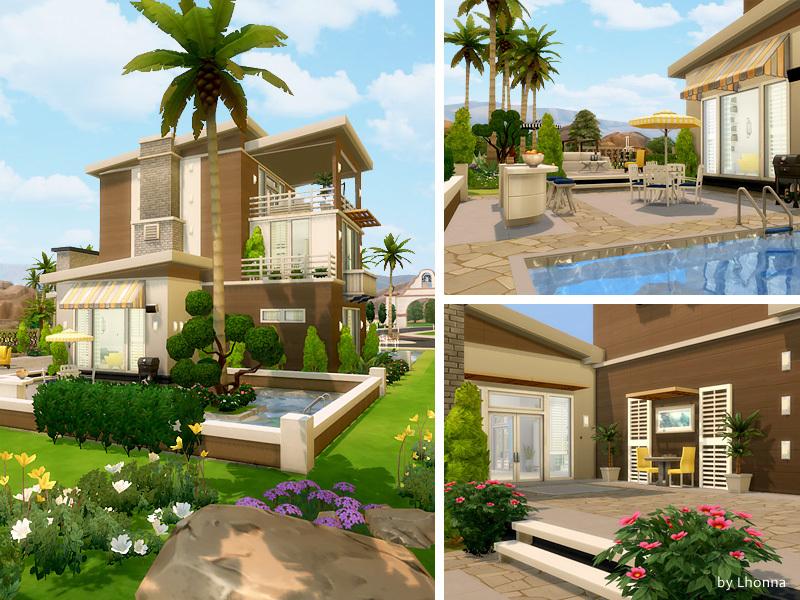 Summer dream house sims 4 houses for Big modern house sims 4