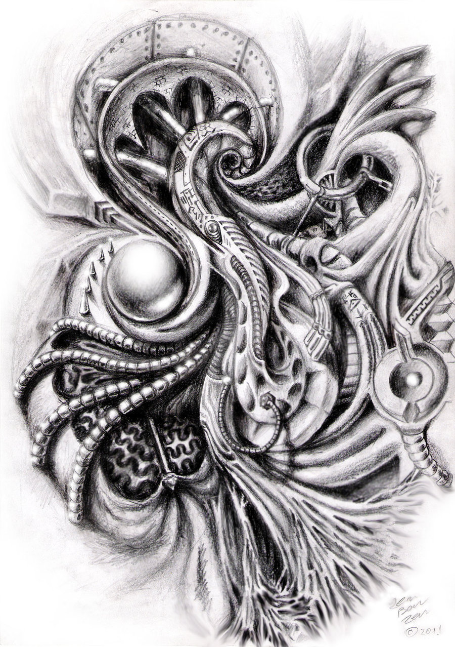 12 Great Bio Mechanical Tattoo Design Ideas
