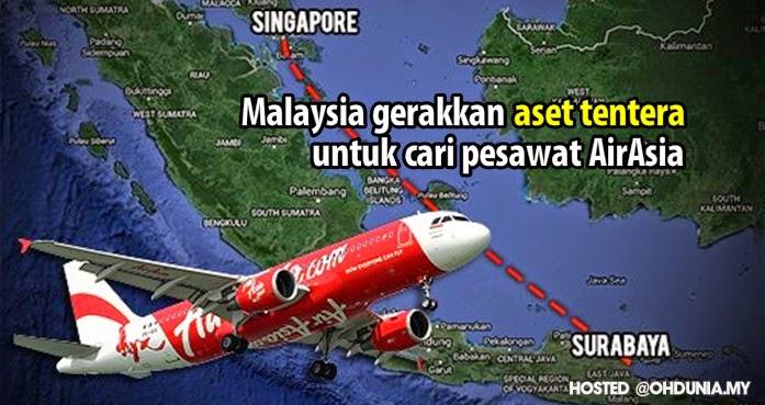Malaysia hantar aset ketenteraan untuk cari pesawat AirAsia QZ8501