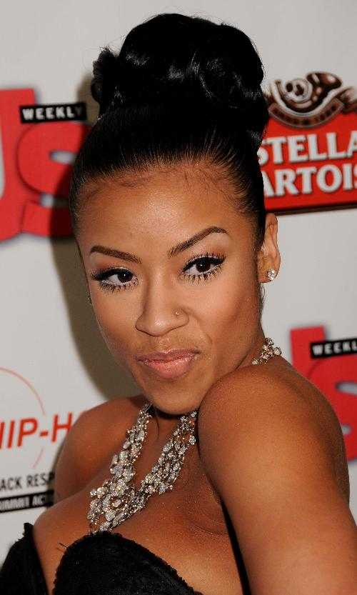 anotherallergymom: Keyshia Cole beautiful Updo Hairstyle Pto