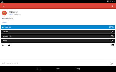 Google Summation Novel Poll Feature
