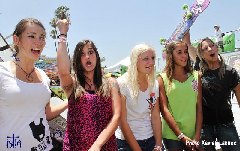 Girl skateboarding, all girl skate jam