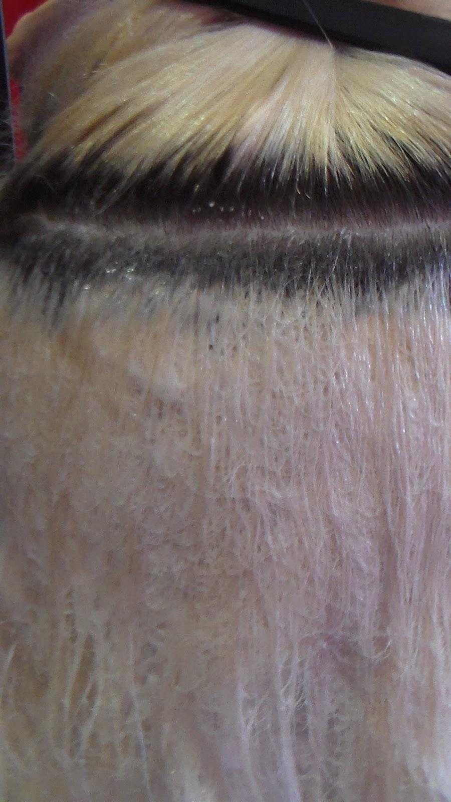 Szőkített haj visszafestése