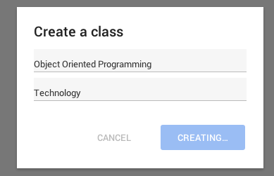 how to create a google classroom page