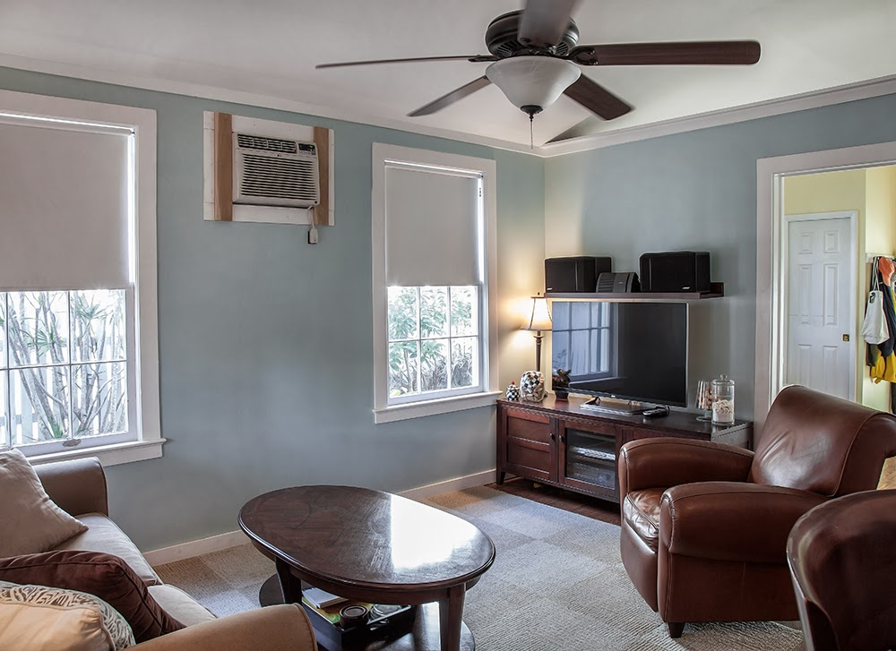 Lots of light and windows in the main living area of 1407 White Street