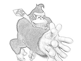 Donkey Kong Country Coloring Pages