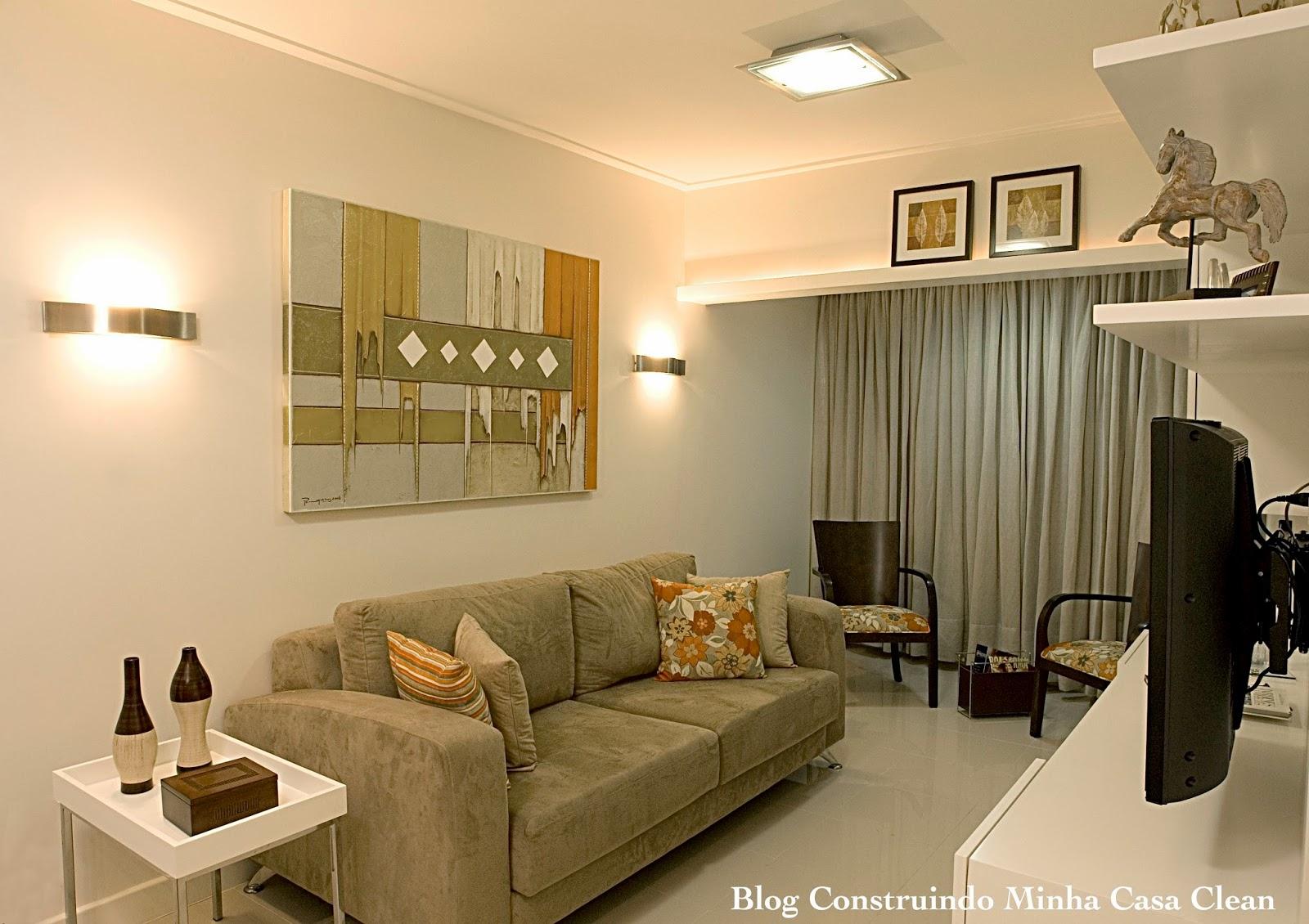 Construindo Minha Casa Clean Arandelas Iluminando E Decorando Os  -> Luminarias De Parede Para Sala De Estar