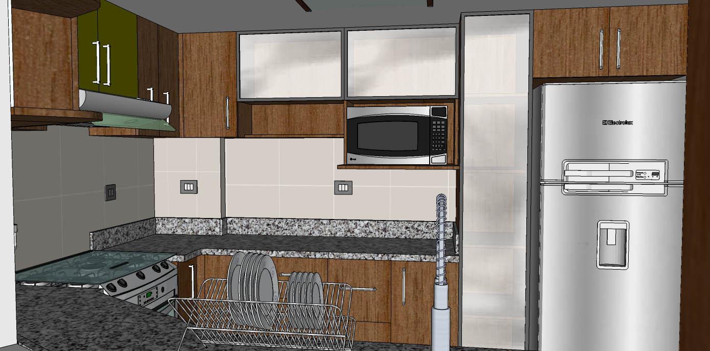 Cristian campos proyecto de remodelaci n de cocina de for Cocinas de 2 metros