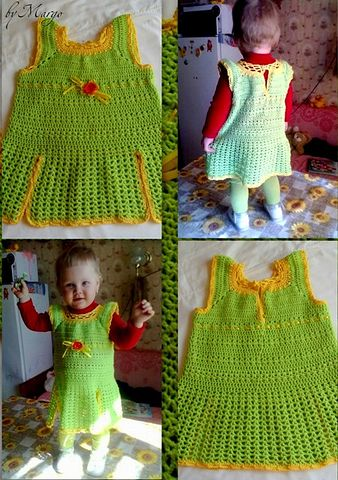 Заказать детское вязаное платье