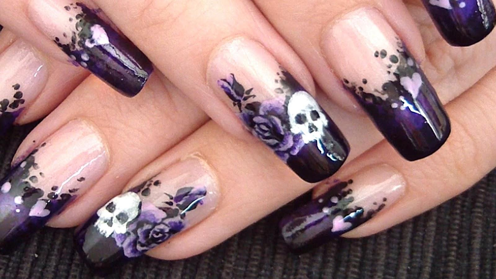 Gothic Nail Art Designs