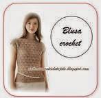 Blusa delicada y entallada al crochet