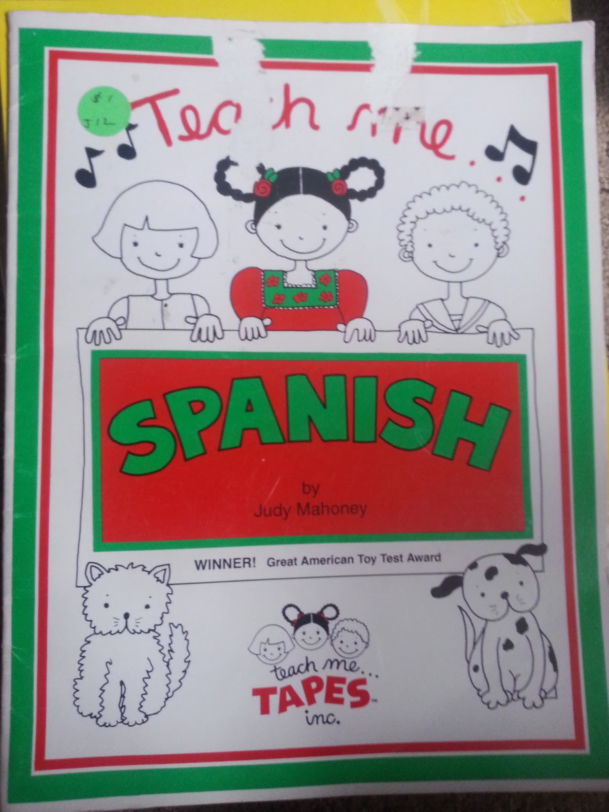 Spanish Book Of Songs, No Cd, Used  Free + $1 Shipping (if Not Included  With Other Book Purchase)
