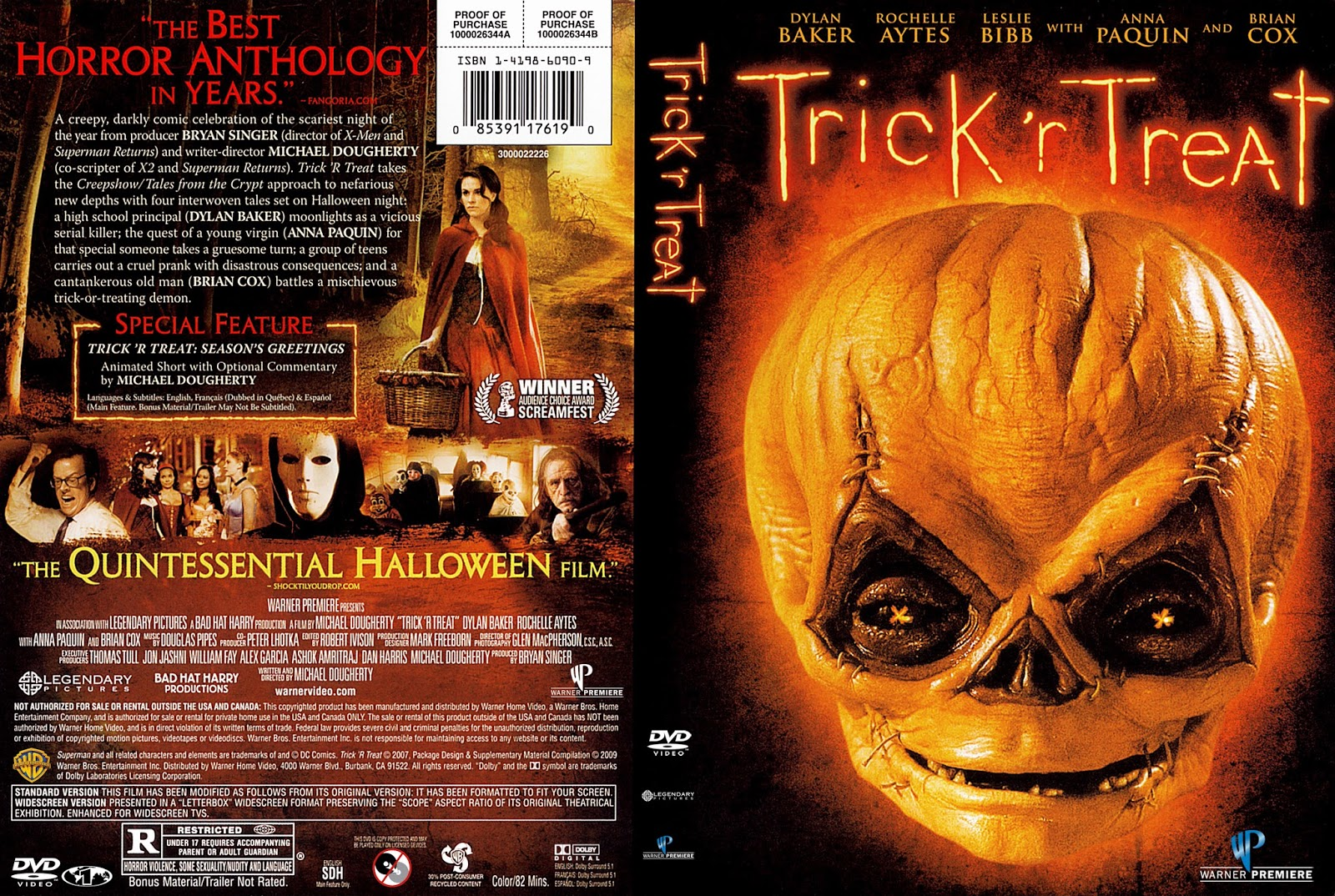 The Horrors of Halloween: TRICK 'R TREAT (2007) Sales Sheet, VHS ...