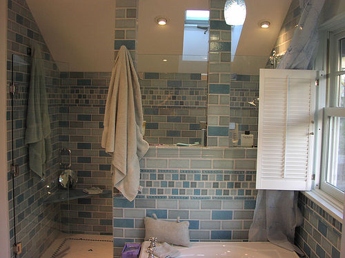 Green eco living removing mold and mildew in the bathroom - Cleaning mold from bathroom ceiling ...