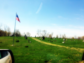 Scenic cemetery in southeast Ohio