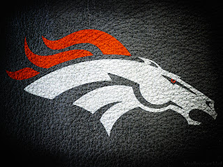 Denver Broncos Logo on Leather Texture HD Wallpaper