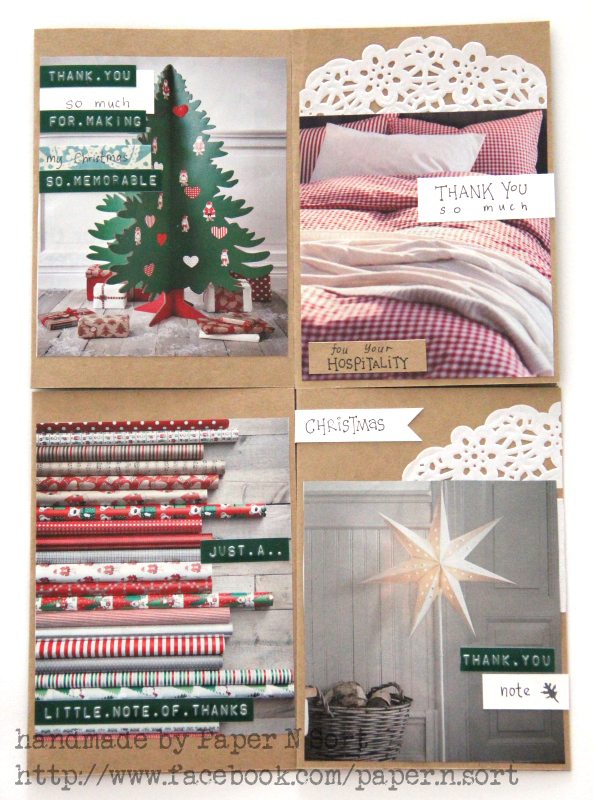christmas thank you cards made of catalog