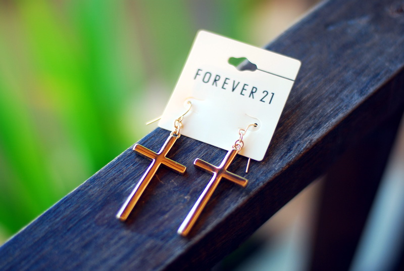 серьги forever 21