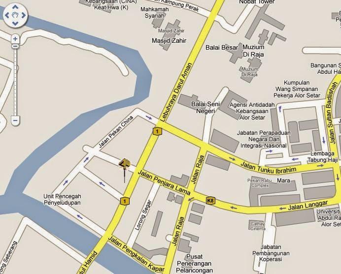 Bahkutteh KTemoc Kongsamkok - Alor setar map