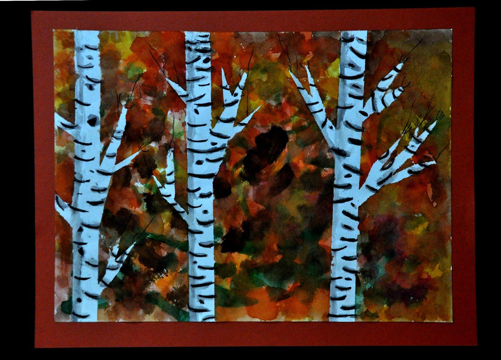 mrs nohelty s art lab 3rd grade fall birch tree