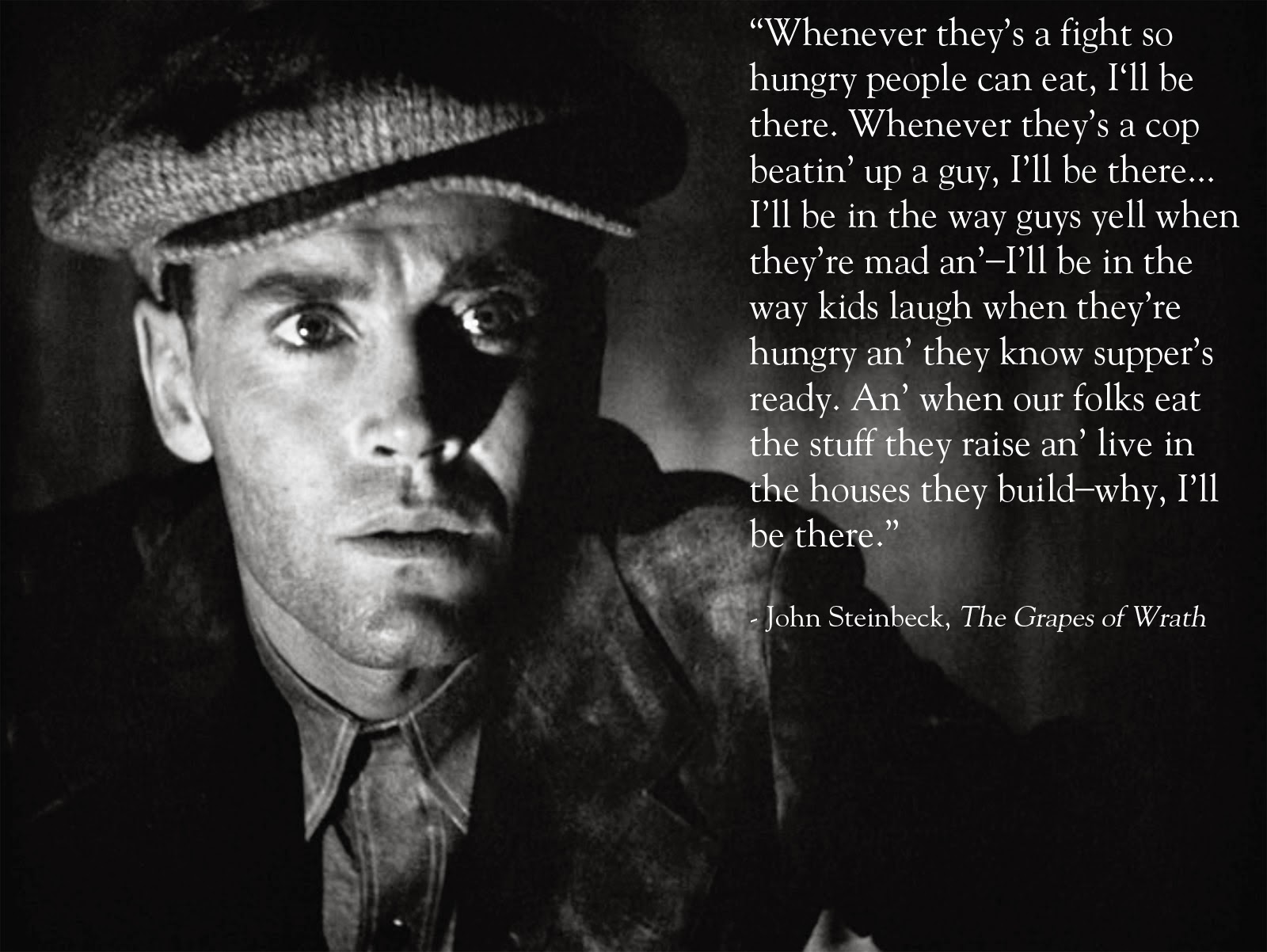 "an analysis of the great depression in the movie the grape of wrath What the great depression did to culture  taking up songwriting, he wrote "" brother, can you spare a dime,"" which became the era's unofficial theme song   not all the unemployed found careers in literature, music, and film,  in ""the  grapes of wrath"" (1939), grew out of the reporting he did on the."