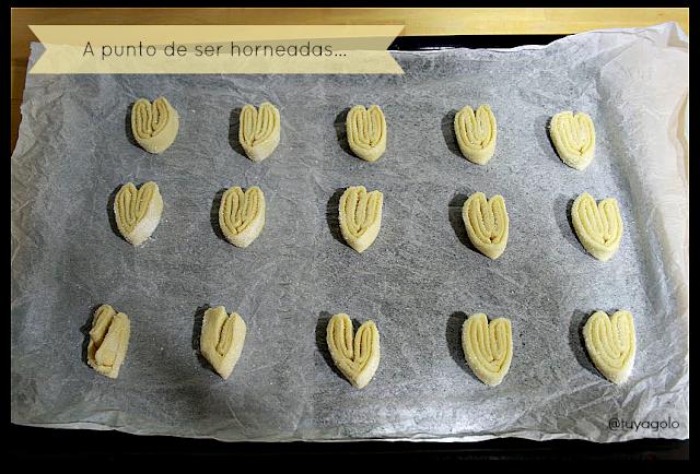 Palmeritas dulces previamente a ser horneadas