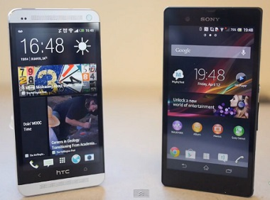 HTC ONE VS. XPERIA Z