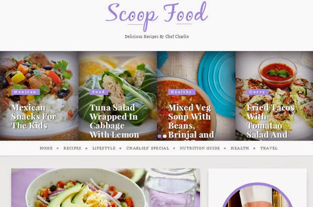 Scoop Responsive Blogger Template