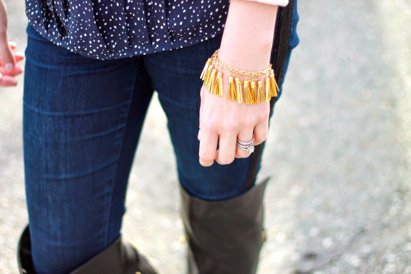 fringe tassel bracelet