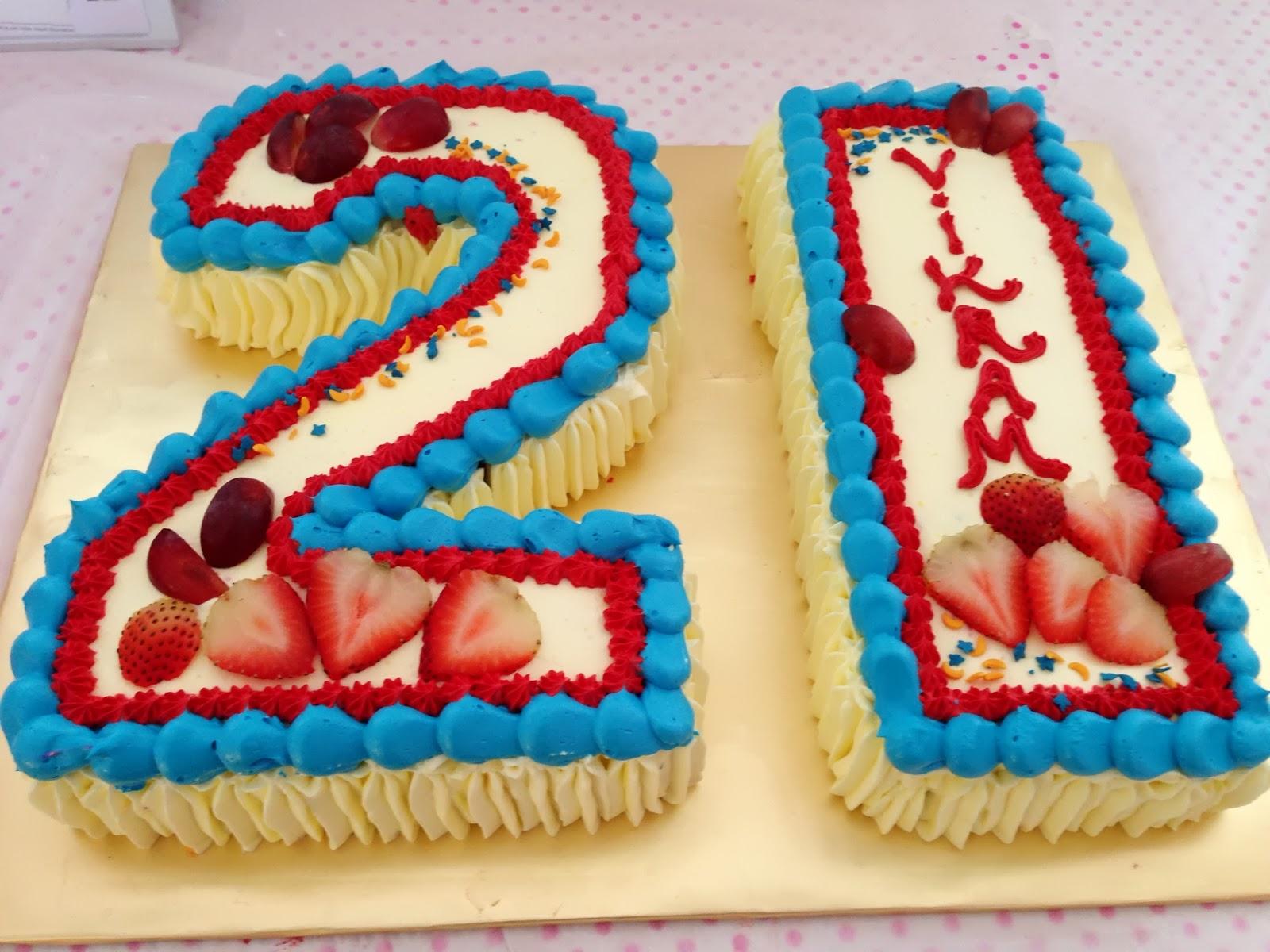 Ninie Cakes House Number 21 Birthday Cake