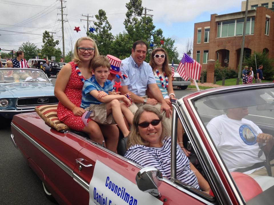 Dan, Family and Friends in the 2013 Fourth of July Parade