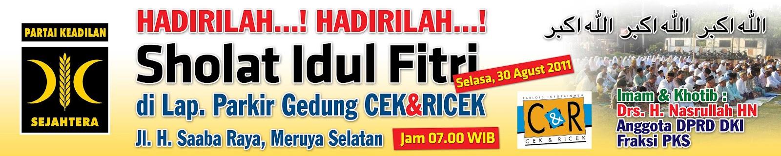 Contoh Banner Spanduk Idul Fitri
