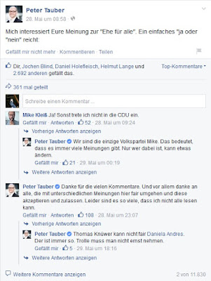 Screenshot Facebook-Frage