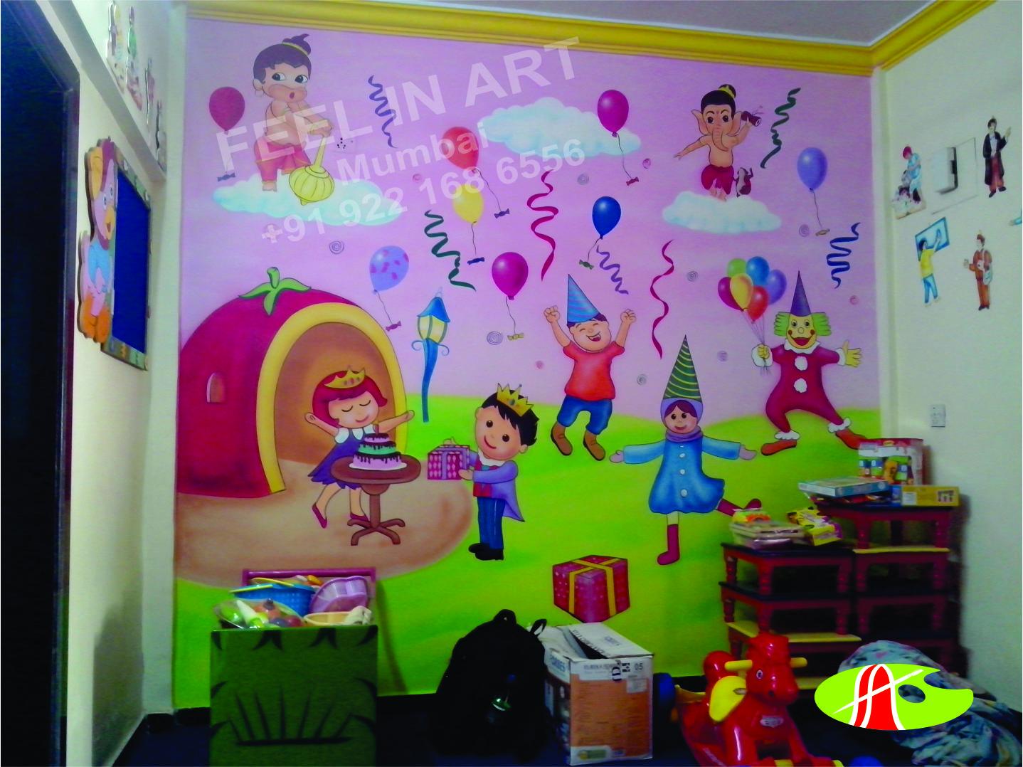 Play School Wall Painting Pre School Classroom Wall Painting Thana