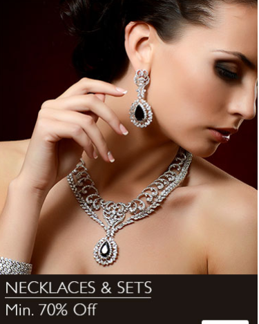 Buy Necklace and sets from Snapdeal and get minimum of 70% discount