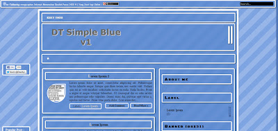 Free Template DT Simple Blue v.1