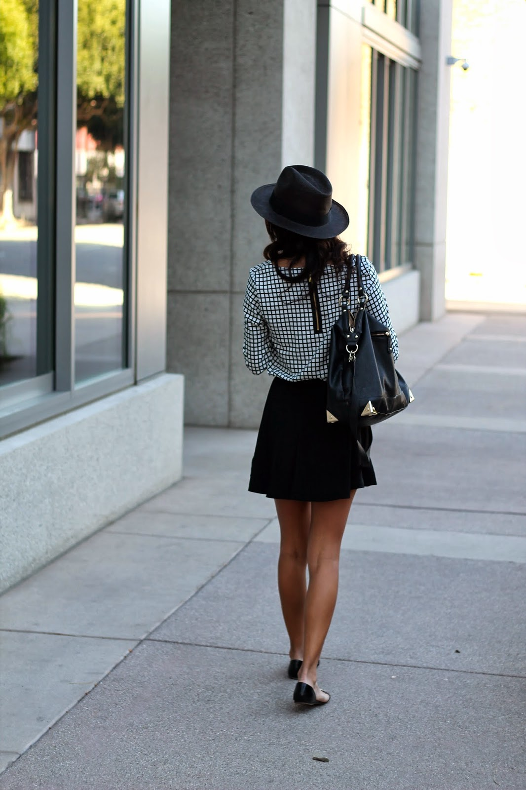 spring  black white outfit