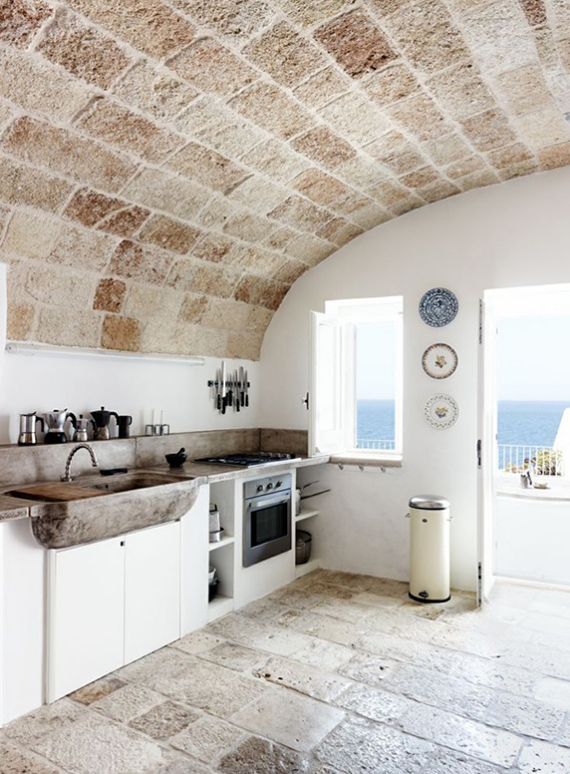 Modern country kitchen with sea view. Images by Wichmann + Bendtsen for Kinfolk