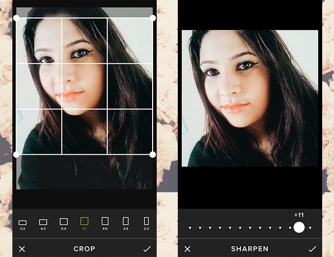 Aplicativo de fotos Vsco cam