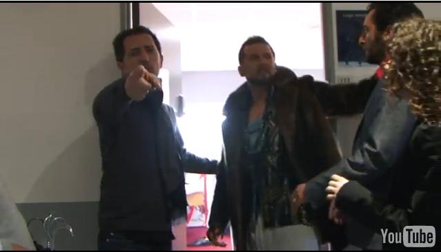 Vidéo Bagarre de Gad Elmaleh et un inconnu