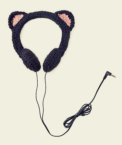 Amigurumi Headphones : Milk Overdose: black cat headphones