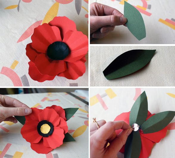 Diy paper flower corsages poppy the base of the petal is 12 and expands to 2 34 tall and reaches to 2 14 wide draw the shape like a shell and cut it out mightylinksfo