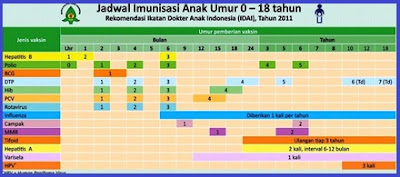 Imunisasi Dasar pada anak, jadwal dan jenis vaksin imunisasi yang wajib diberikan