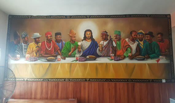 photo of d 12 apostles of jesus christ all black and wearing traditional attires religion nigeria