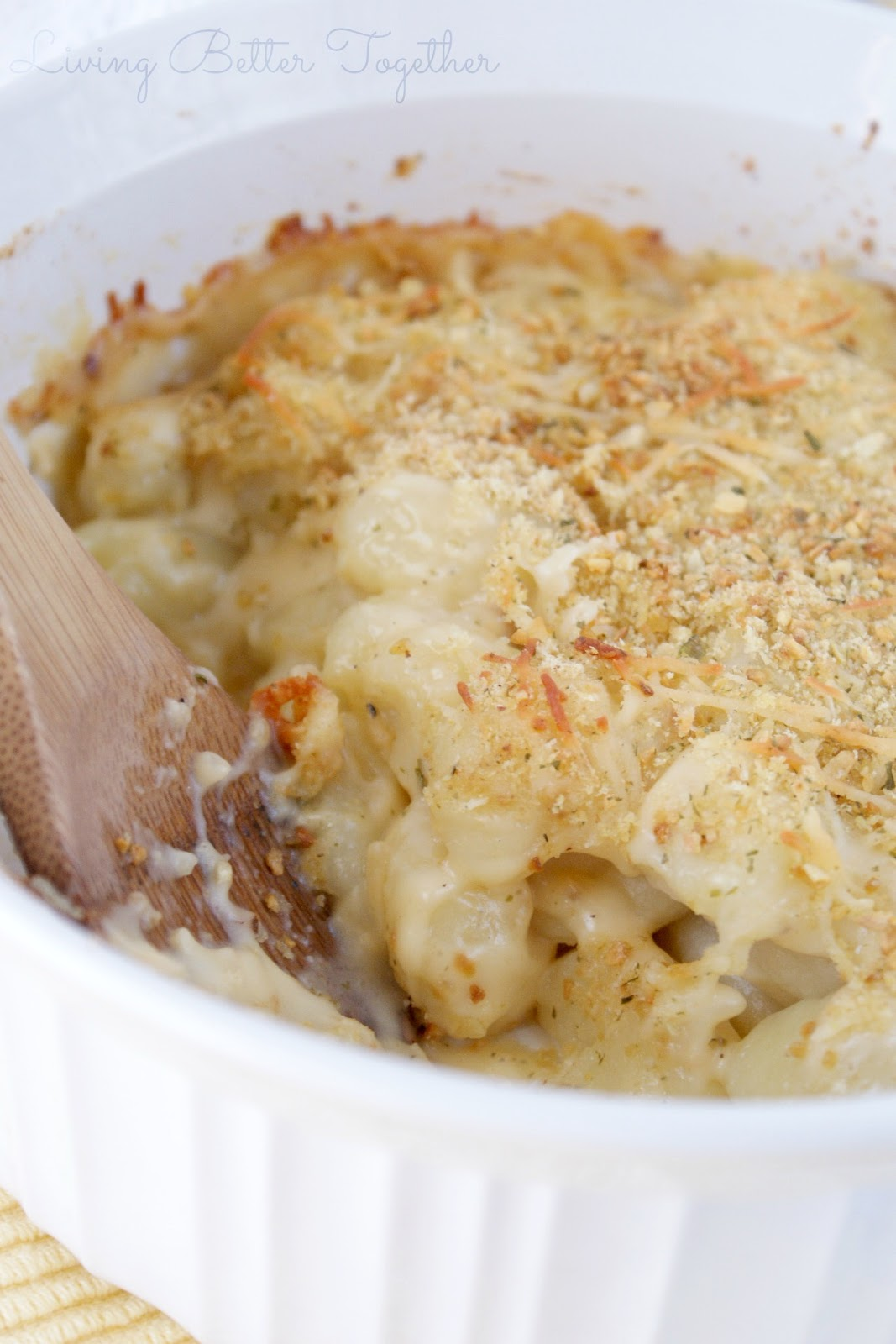 Baked Three Cheese Gnocchi Mac n' Cheese - Living Better Together