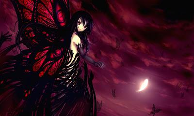 Accel World Kuroyukihime | Anime | wallpaper | Girl | Butterfly Wing