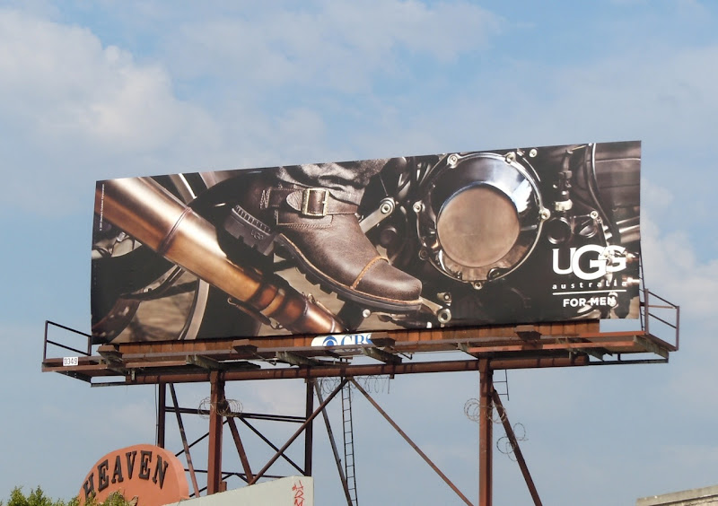 UGG Men shoes motorbike billboard