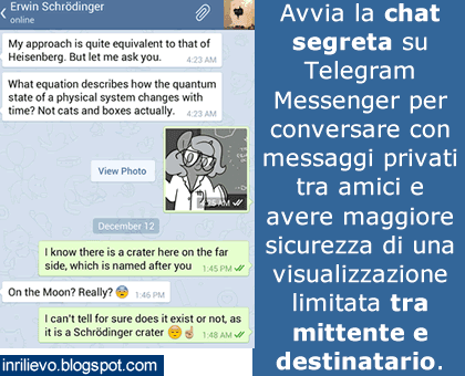 chat segreta telegram